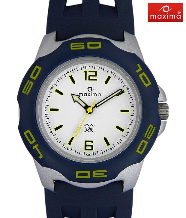 Maxima Plastic Strap Watch-PA-E-23541PPGN