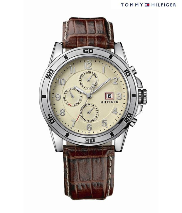 8c175be2 Tommy Hilfiger Brown Leather Strap Watch - Buy Tommy Hilfiger Brown Leather  Strap Watch Online at Best Prices in India on Snapdeal
