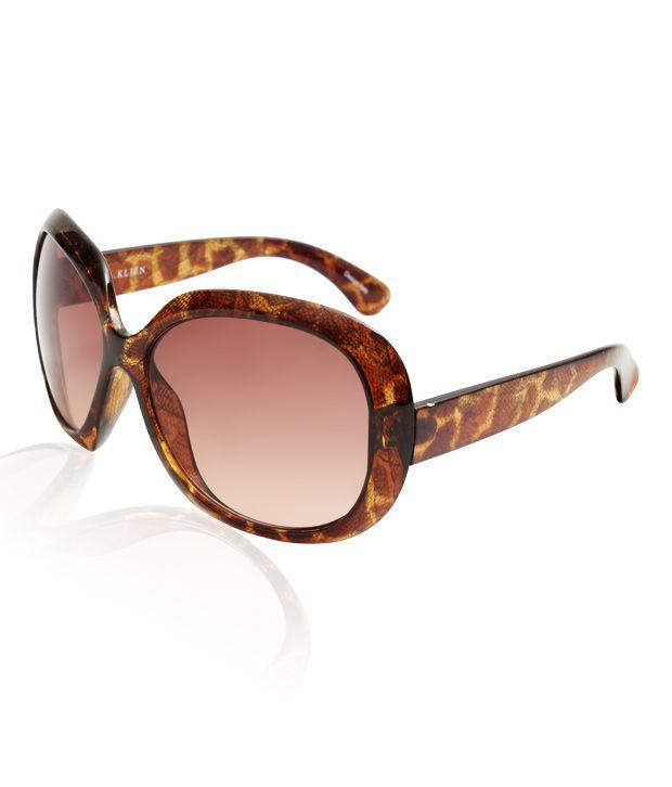 A.Klein Brown Snake Pattern Sunglasses