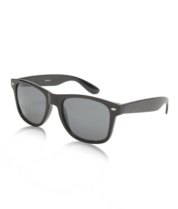 Color Line Classy Black & Grey Wayfarer
