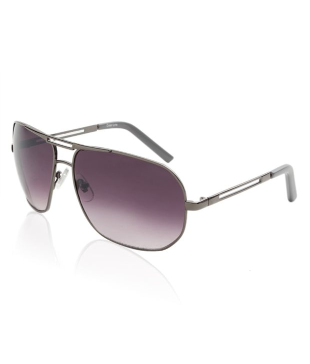 Colour Line Sporty Violet Aviator Sunglasses