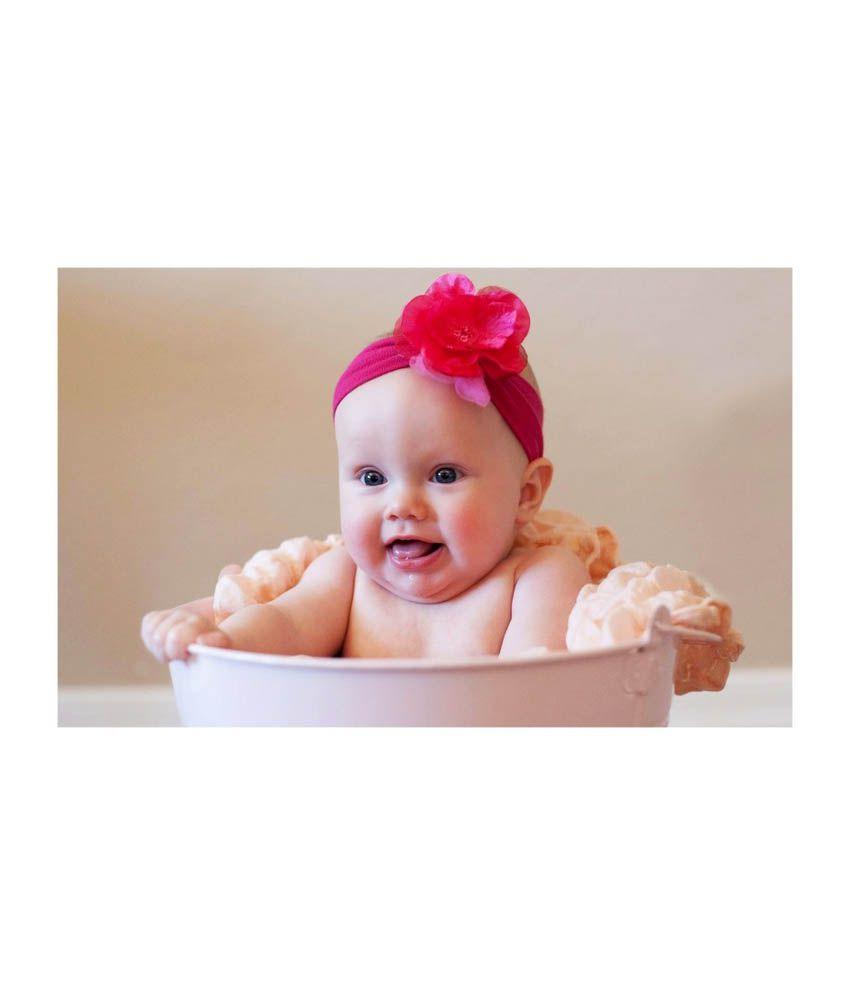 DeStudio Cute Baby Girl in a Bucket - Poster