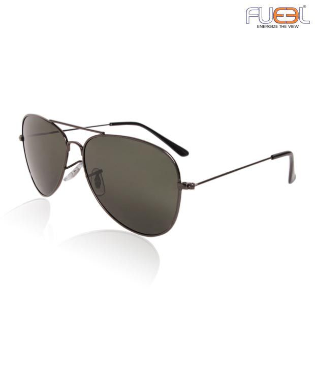 Fueel Classic Black Aviator Sunglasses