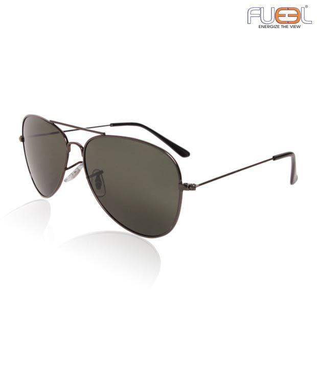 Fueel Classic Black Aviator Sunglasses