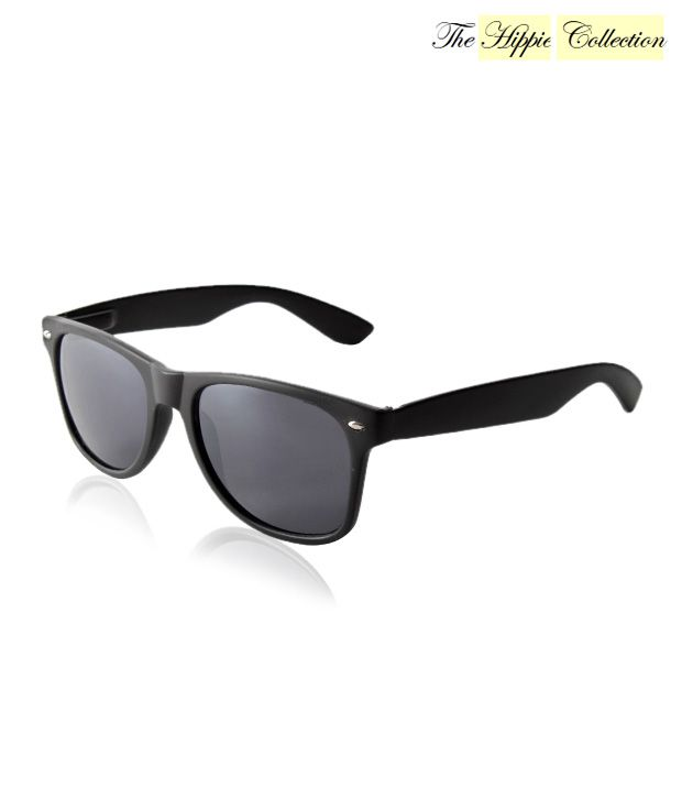 Hippie Collection Sophisticated Black Wayfarer Sunglasses