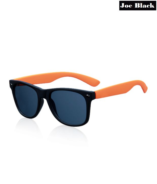 Joe Black Wayfarer Black & Orange Sunglasses