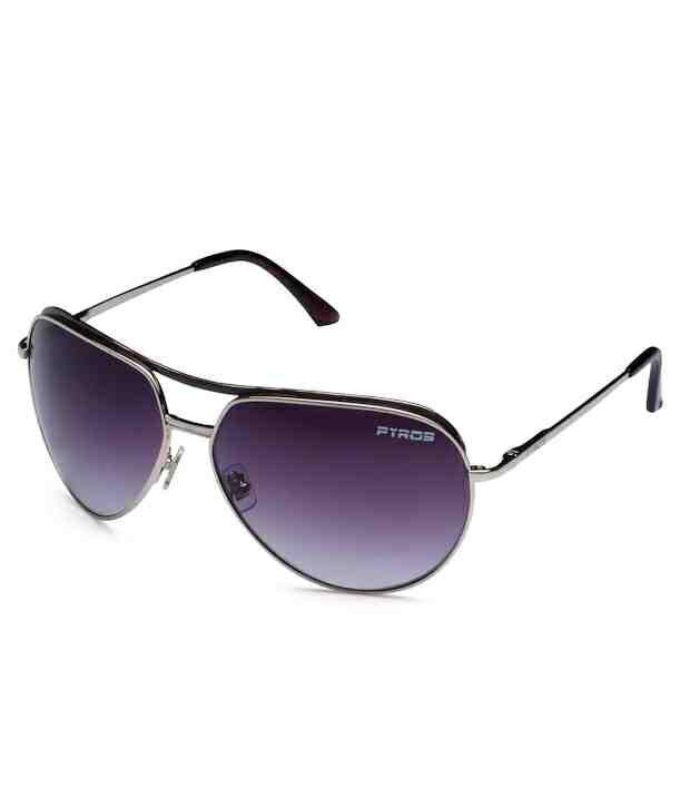 Pyros Aspiring Purple Aviator Sunglasses