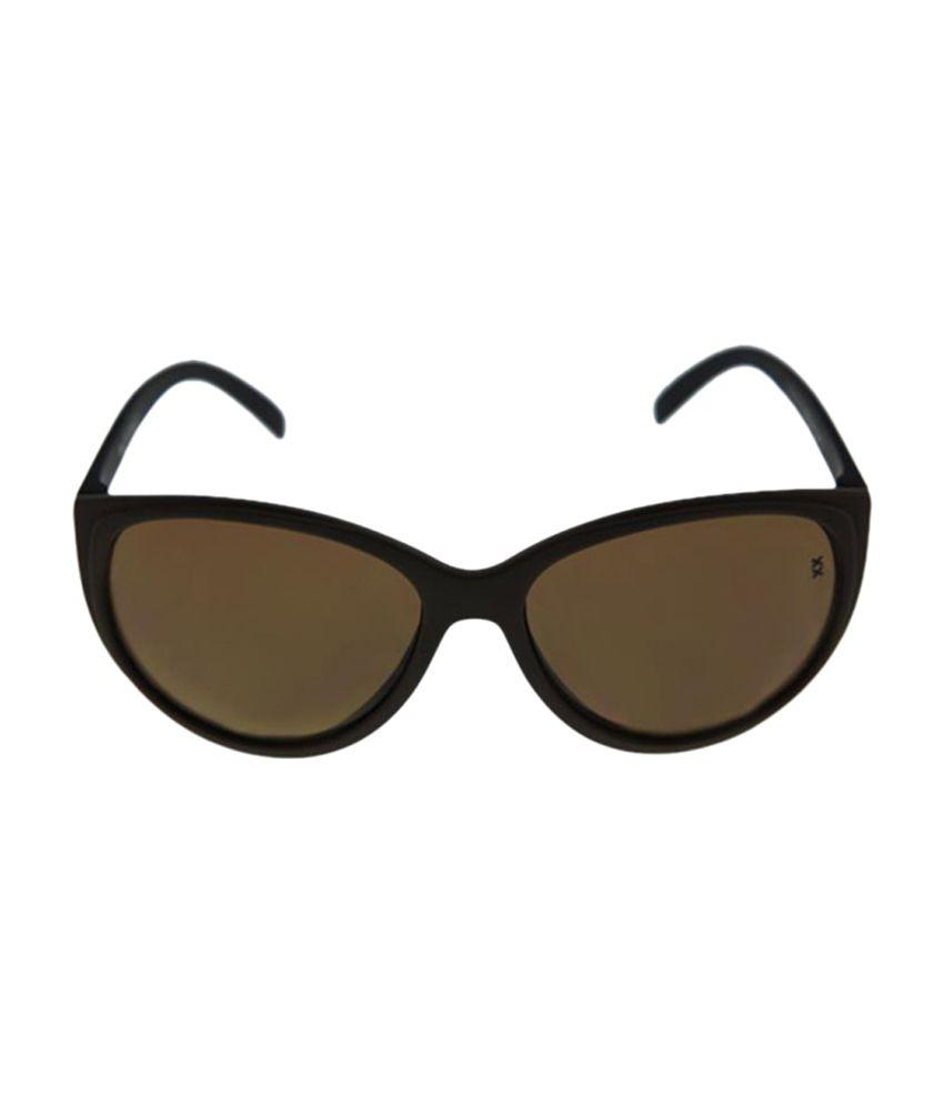Foresightopticalsfluxx Oval Shape Sunglass - Brown
