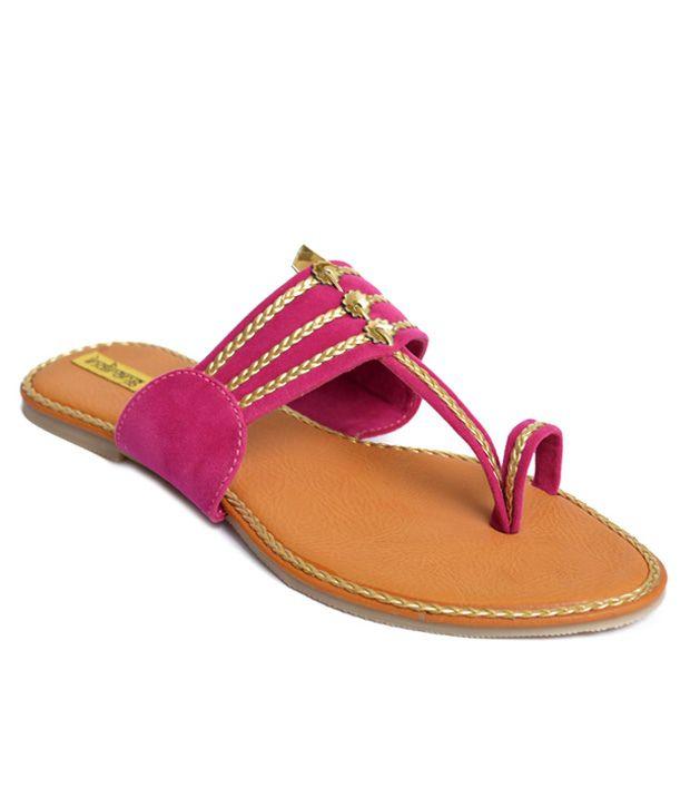 Indirang Pink Flat