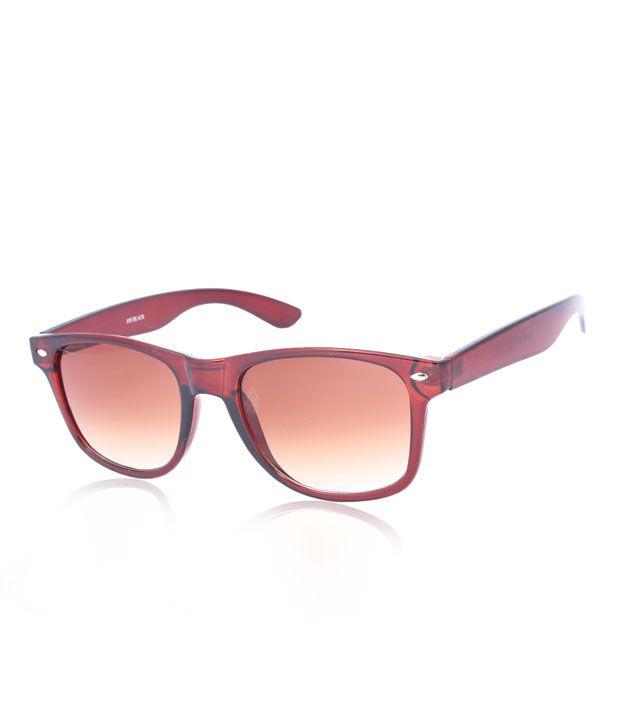 Joe Black Smashing Shiny Brown Wayfarer Sunglasses