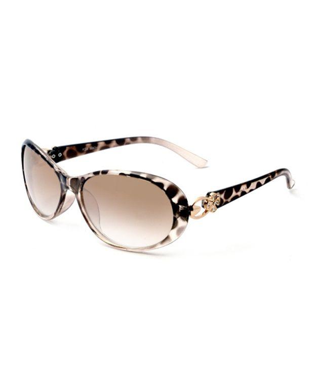 MacV Eyewear 8841 Brown Gradient Animal Print Sunglasses