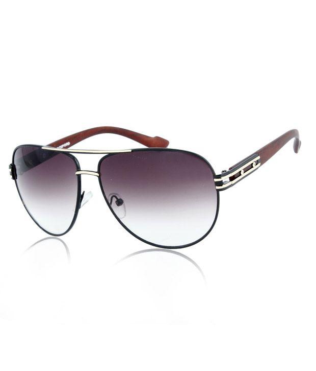 RockFord UN-RF-1012-C1 Black- Gold Aviator Sunglasses