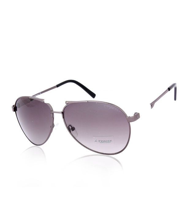 Tracer Excellent Gunmetal Aviator Sunglasses