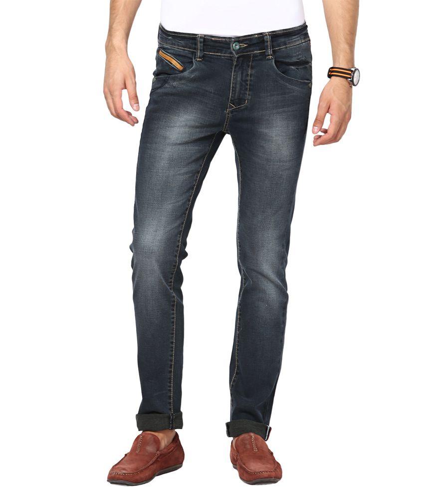 CODE 61 Black Slim Fit Jeans