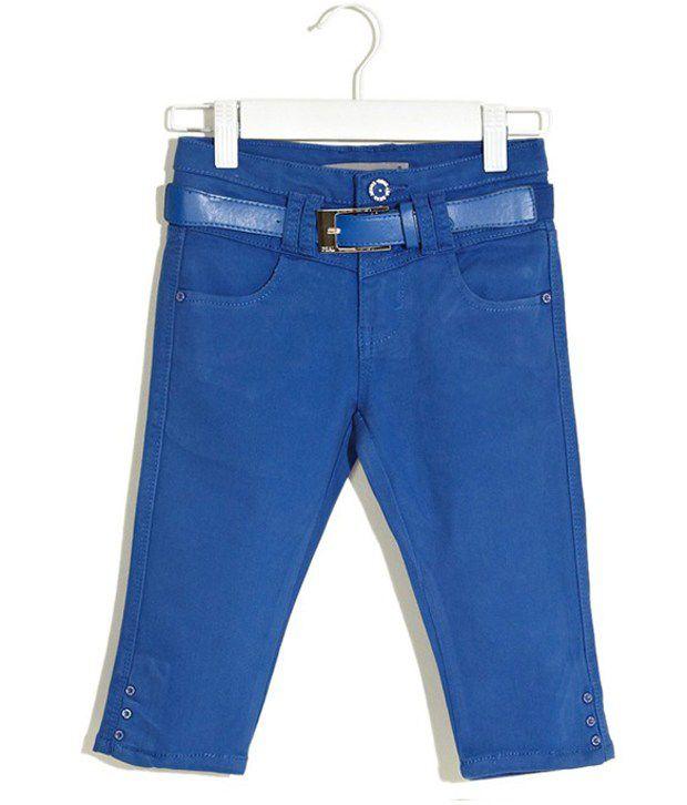 Deal Jeans Kids Blue Capris For Boys