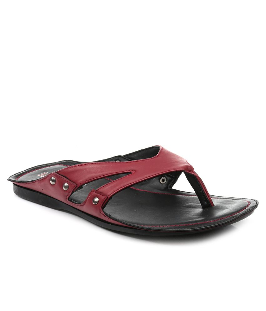 c719ae0af4c0 Franco Leone Red Slippers Price in India- Buy Franco Leone Red Slippers  Online at Snapdeal