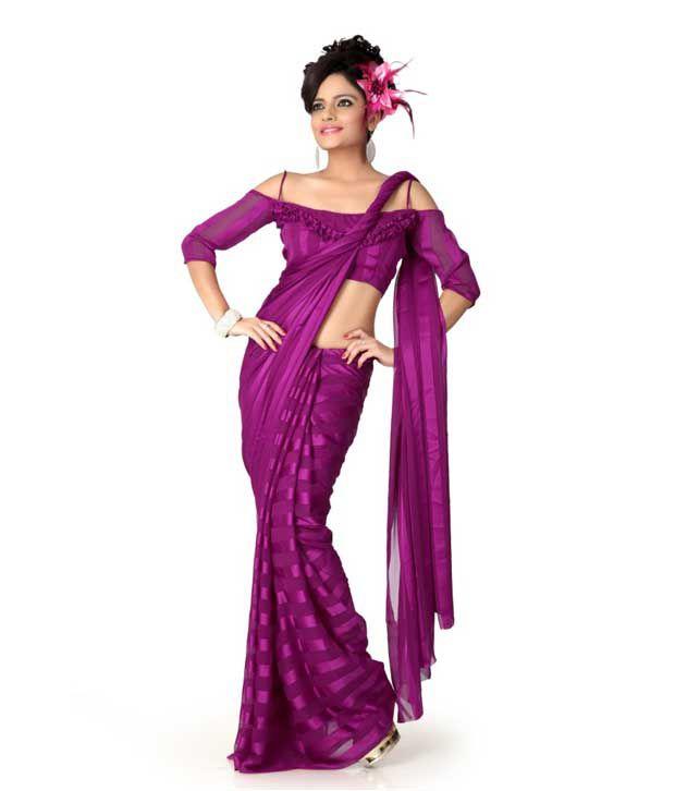 Designer Sarees Pink Chiffon Saree
