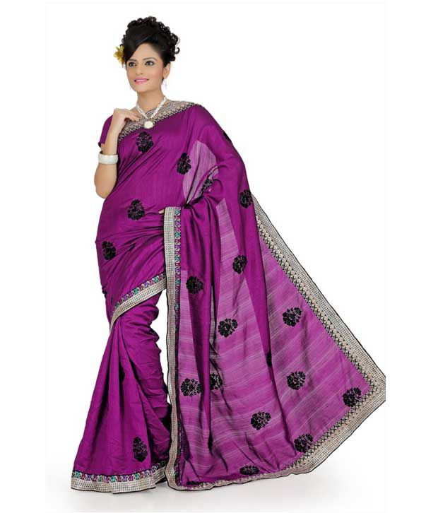 Designer Sarees Purple Art Silk Saree