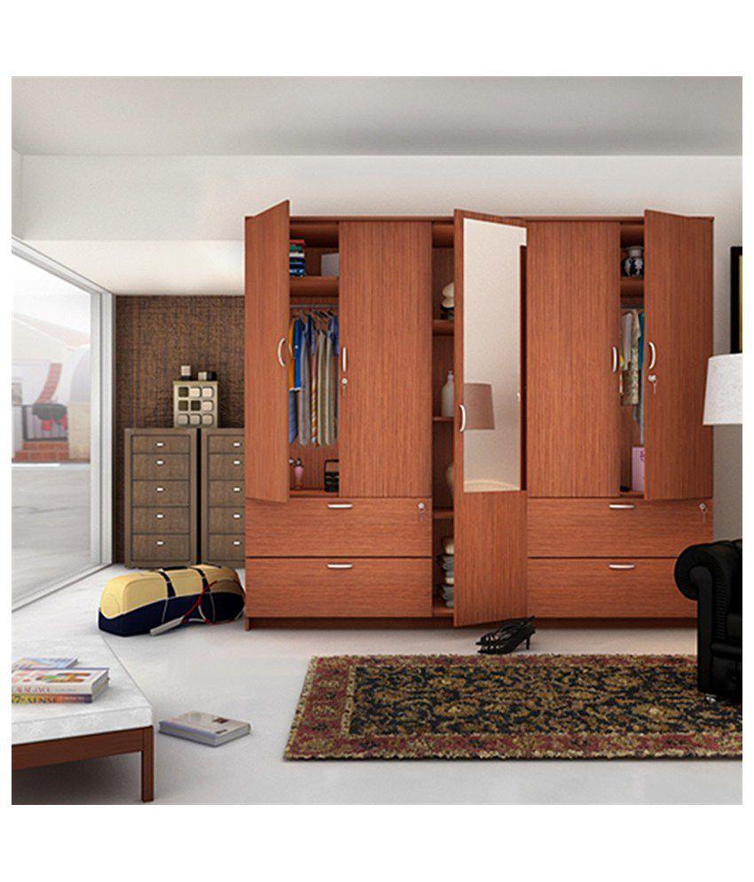 Housefull Jacob 5 Door Wardrobe with