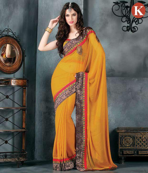 Khazana Multicoloured Chiffon Saree