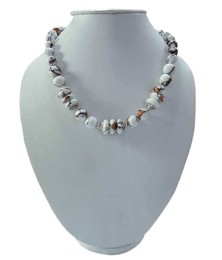 Pearlz Ocean Bio-Color Howlite Beads 18 Inches Bold Necklace