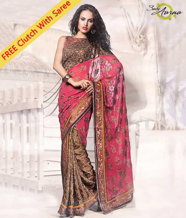 Sahi Arna Multicoloured Georgette Saree