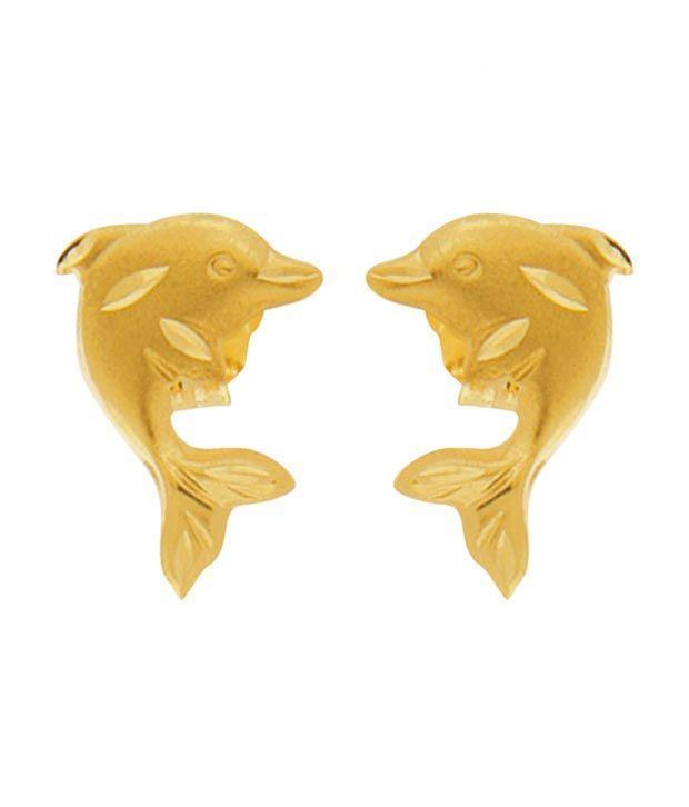 Avsar Gold Exquisite Fish Earrings