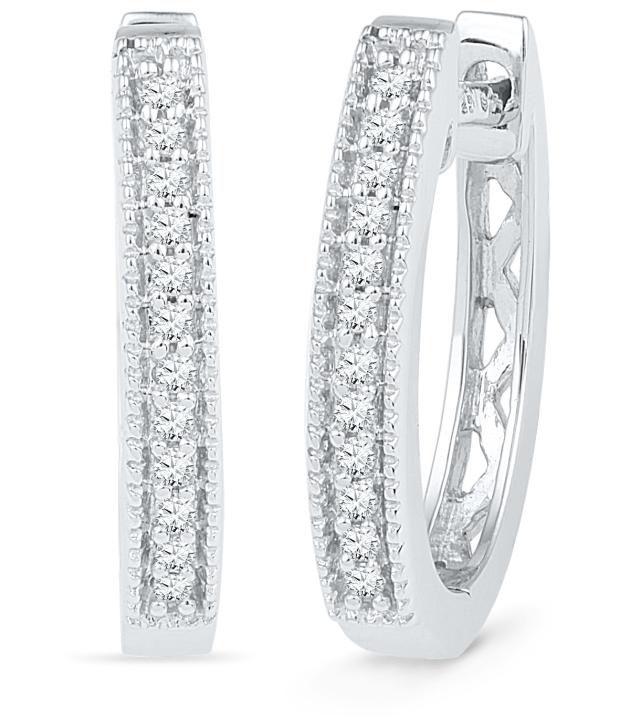 Caratlane Lucetta 92.5 Silver Certified, Real DiamondEarring