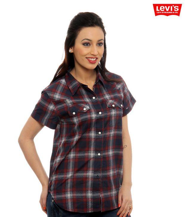 Levi's Blue-Red Checkered Shirt-69355-0006