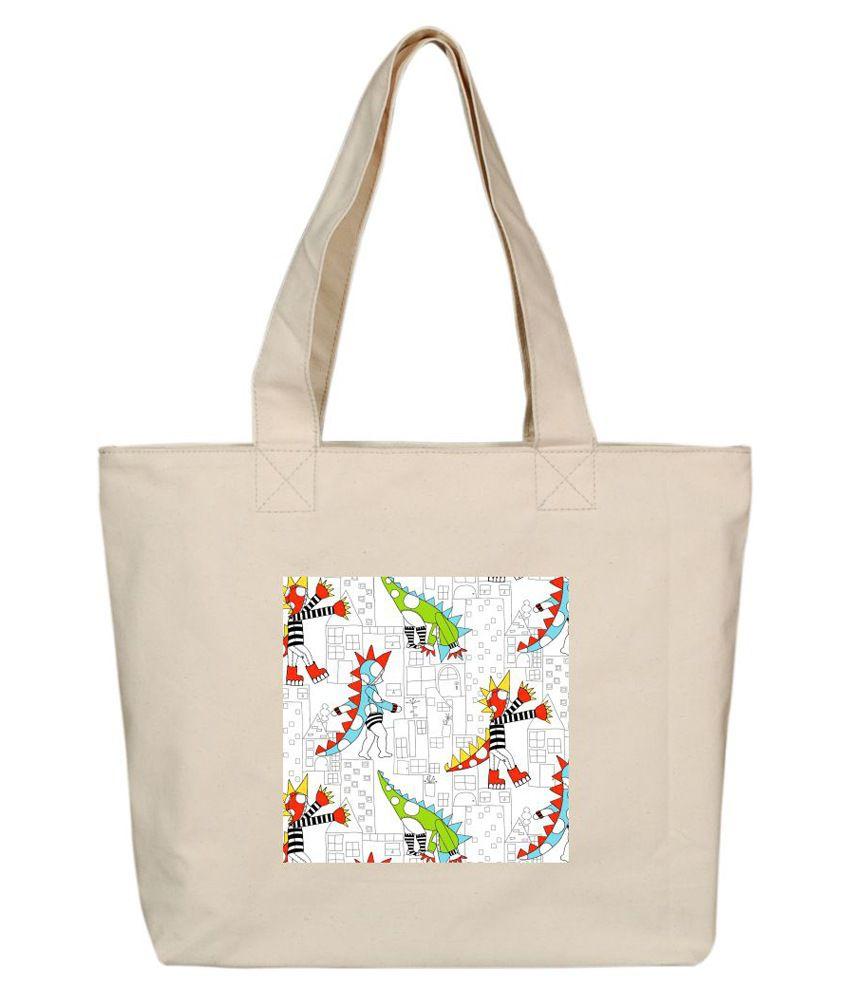 OXA SDH156 Beige Tote Bags