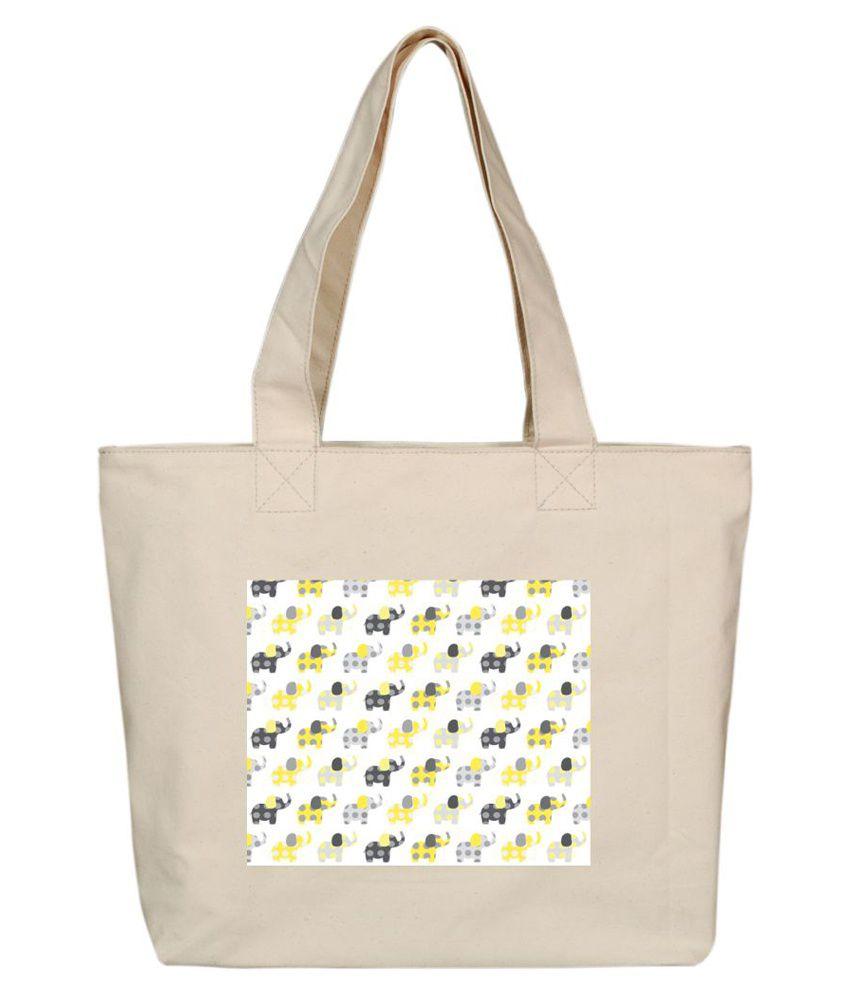 OXA SDH161 Beige Tote Bags
