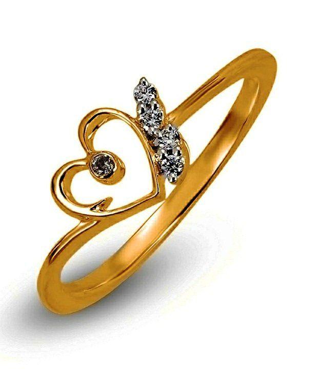 Shashvat Jewels 18Kt Lovestruck Heart Ring