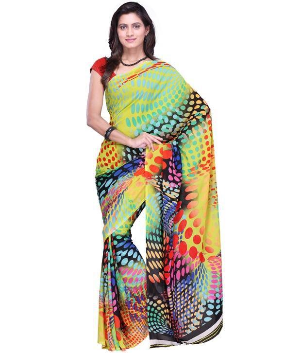 Aabha Multicoloured Georgette Saree