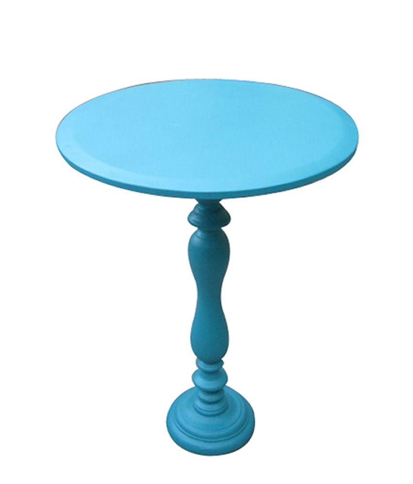 Aqua  WOODEN END TABLE