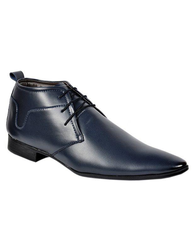 Footlodge Blue Formal Shoes