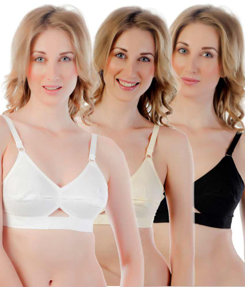 50610d56a Buy Centra Multi Color Non-Padded Bra Pack of 3 Online at Best Prices in  India - Snapdeal