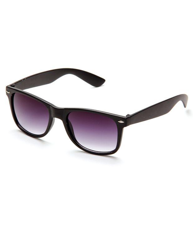 Pede Milan Wayfarer Pmsg-40-Black WomenMen'S Sunglasses