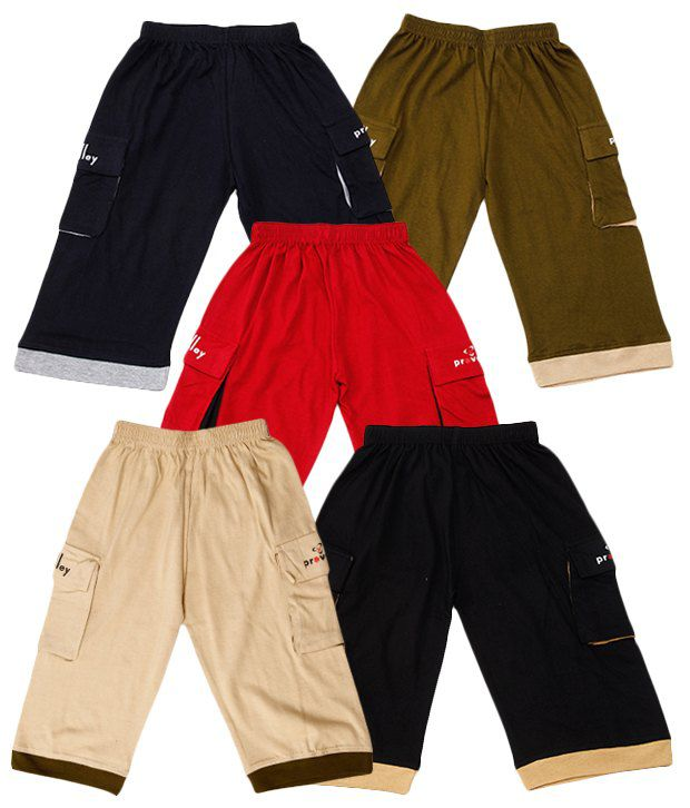 Provalley Pack of 5 Capris For Boys - Buy Provalley Pack of 5 Capris For  Boys Online at Low Price - Snapdeal