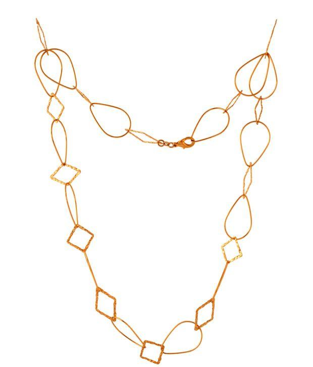 Voylla Stylish Geometric Gold Plated Necklace