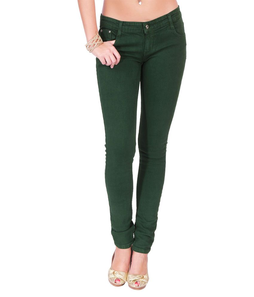 cb80851a8a2 Buy 20D Forest Green Denim For Women Online at Best Prices in India -  Snapdeal