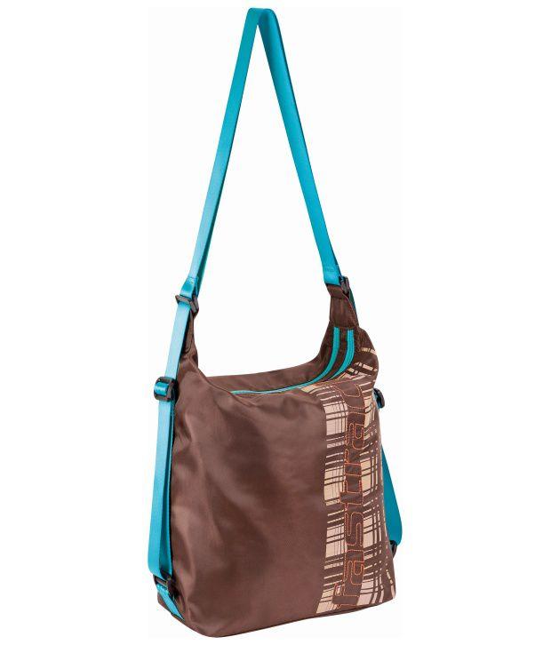 Fastrack A0520NBR01 Brown Cross Body Sling Bag cum Backpack - Buy ...