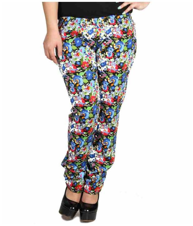 Fashion Cult Multi Color Cotton Lycra Jeggings