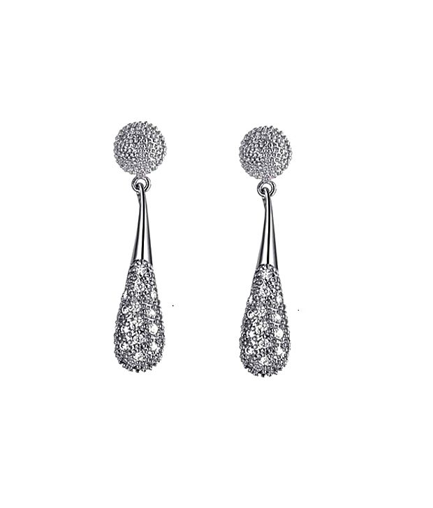 Kaizer Idolize White Gold Plated Earrings