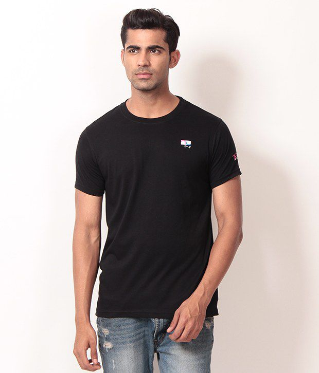 LONDONER Wash with Similar colors Half Cotton Round  T-Shirt