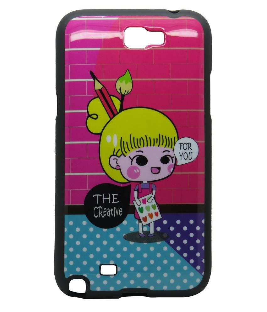 Snooky Back Cover Case For Samsung Galaxy Note 2 Pink