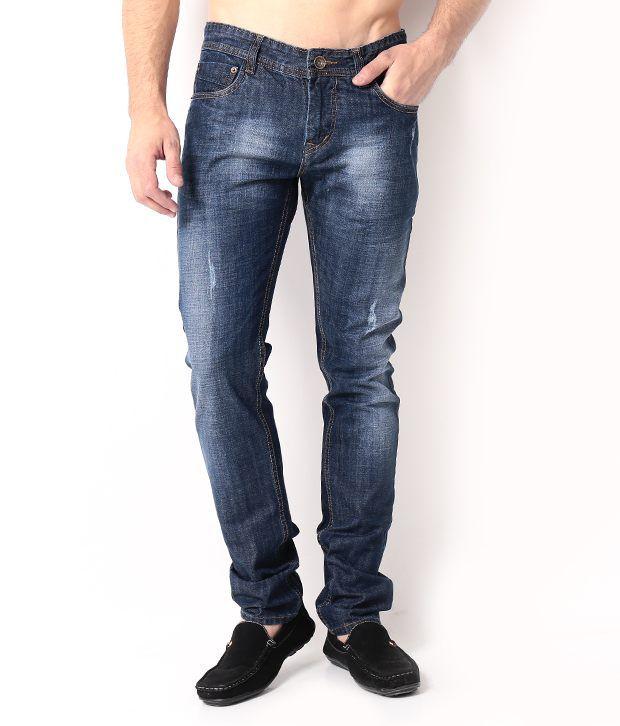 DesignRoadies Blue Slim  Jeans