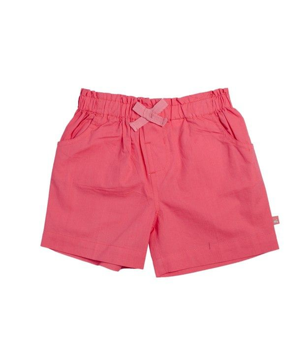 FS Mini Klub Pink Basic Woven Shorts For Kids