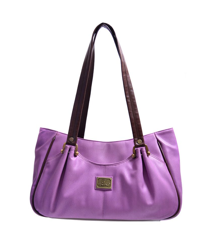 Tonino Leathers 31341101015 Purple Shoulder Bags