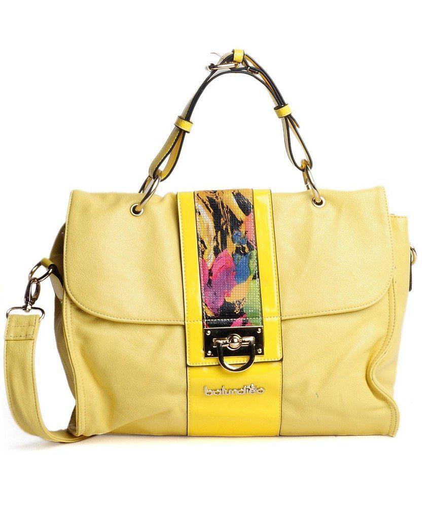 ADISA B0366 Yellow Satchel Bags