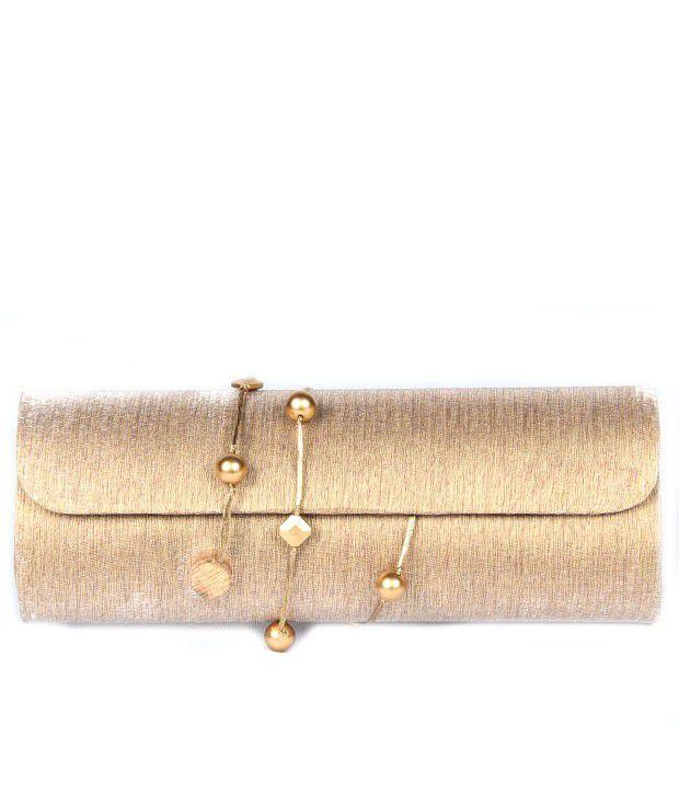 Favola Fss0266 Gold Clutch
